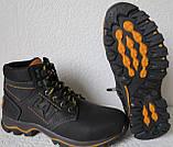Детские зимние  в стиле Caterpillar сапоги кожа ботинки САТ мех теплые качественные черные, фото 4