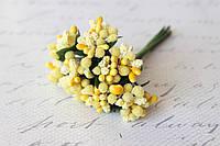 Декоративные веточки облепихи 10-12 шт/уп. желтого цвета, фото 1