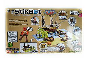 Набор фигурок для анимационного творчества StikBot Остров сокровищ / пираты PIRATE Movie set 2110, фото 3