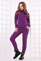 Стильний теплий  спортивний костюм гольф та штани фіолетовий розмір 42 44 46 48