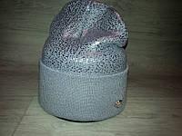 Женская зимняя шапка (двойная вязка), фото 1