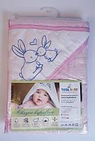 Полотенце для малышей Кролики 100*100 см Розовый Хлопок KR-008 Tega Baby Польша