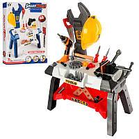 Детский игровой набор инструментов T103-2-104-2, столик, 29-51-71см, 2 вида (40-44дет), на бат-ке, в кор-ке, 6