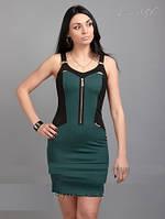 Платье-утяжка темно-зеленого цвета 46 размер