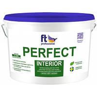 Влагостойкая латексная краска для потолка и стен PERFECT INTERIOR белый Base A 3 л