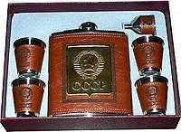 Подарочный набор Фляга, 4 стопки, лейка GT065