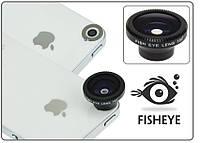 Объектив ФИШАЙ (магнит. крепление). ЛИНЗА FishEye 180° для смартфонов. Чёрный.