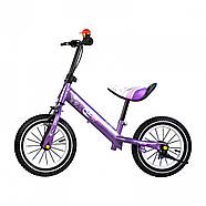 Беговел для детей Platin колеса надувные фиолетовый Гарантия качества Быстрая доставка, фото 3