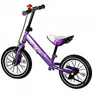 Беговел для детей Platin колеса надувные фиолетовый Гарантия качества Быстрая доставка, фото 2