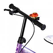 Беговел для детей Platin колеса надувные фиолетовый Гарантия качества Быстрая доставка, фото 6