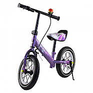 Беговел для детей Platin колеса надувные фиолетовый Гарантия качества Быстрая доставка, фото 5