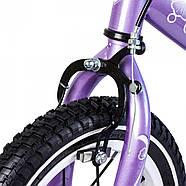 Беговел для детей Platin колеса надувные фиолетовый Гарантия качества Быстрая доставка, фото 4