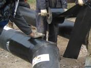 Изоляция стыков теплогидроизолированных труб с помощью термоусадочной ленты (Манжет)