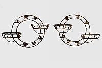 Подставки  кованые для цветов,подвесная кольцо 2