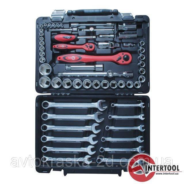 """Професійний набір інструментів (1/2"""" & 1/4"""", 61 од.) Intertool ET-6061"""