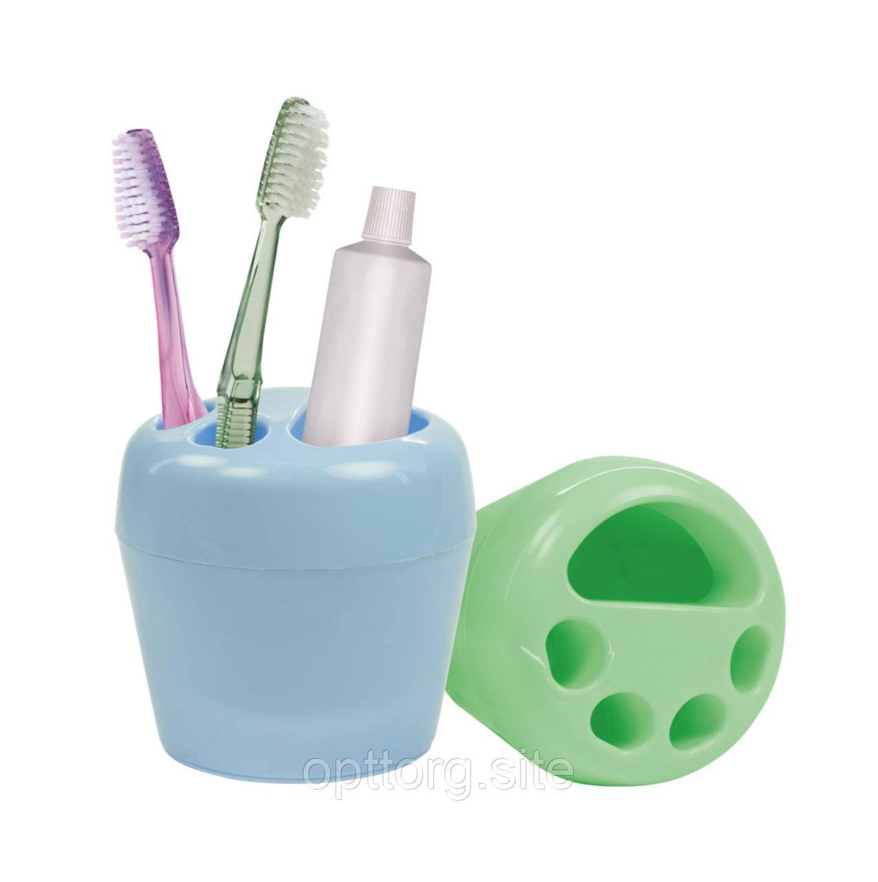 Стакан для зубных щёток Фантазия 11,3х11,3х11,5 см Альтернатива М1155