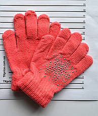 Детские шерстяные перчатки для девочки - длина 14 см, фото 2