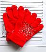 Детские шерстяные перчатки для девочки - длина 14 см, фото 4