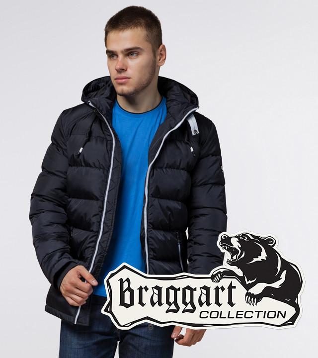Braggart Aggressive 10168   Зимняя куртка с капюшоном т.синий-белый
