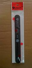 Пилка для ногтей Salon Professional 80/80, прямая узкая, черная