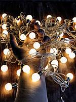 """Новогодняя гирлянда фасадная и внутренняя """"Теплые лампочки"""" от сети, фото 1"""