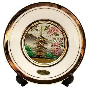 Японская сувенирная тарелка «Пятиэтажная пагода»