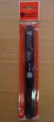 Пилка для ногтей Salon Professional 100/180, прямая узкая, черная