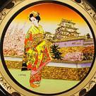 Японская сувенирная тарелка «Дворец и майко», фото 2