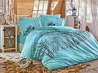 Комплект постельного белья  Hobby поплин размер евро Adriana MARGHERITA бирюзовый