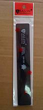 Пилка для ногтей Salon Professional 100/180, прямая широкая, черная