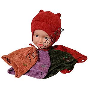 Шапка детская одинарный ангора для девочек 1-2 года Украина Оптом 7511