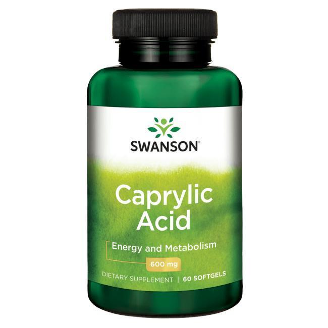 Лікування кандидозу (молочниці) - Каприлова кислота (Caprylic Acid), 600 мг 60 м'яких капсул