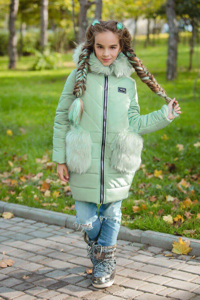 Пальто для девочки синтипон+флис.