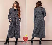 Пальто Ткань  букле с люрекс ниткой Цвет черный меланж db6501ec6f245
