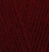 Пряжа для вязания Лана голд 538 бордовый