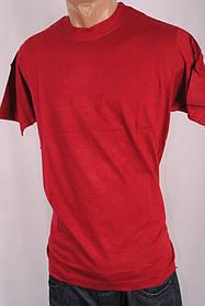 Футболка мужская однотонная 100%Cotton Индия M-L-XL-XXL  бордовая 26989