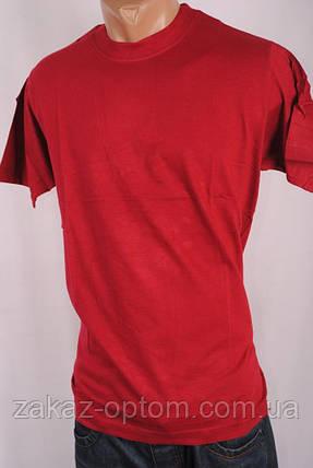 Футболка мужская однотонная 100%Cotton Индия M-L-XL-XXL  бордовая 26989, фото 2