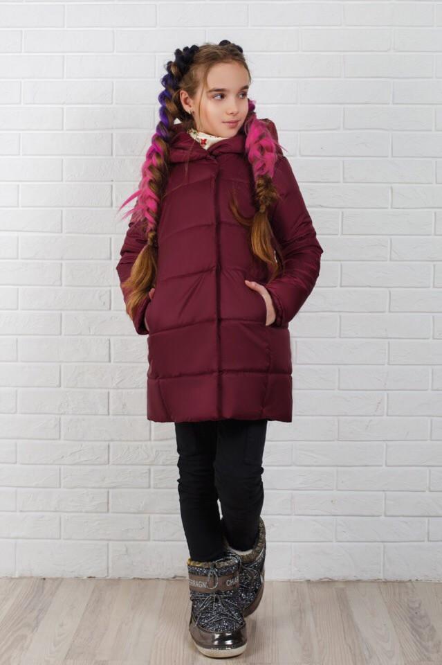 Куртка - пальто зимове для дівчинки,тепле