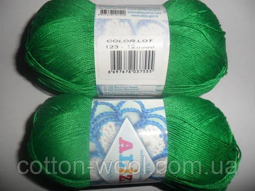 Alize Miss (Ализе Мисс) 100% мерсеризованный хлопок 123 сочная зелень