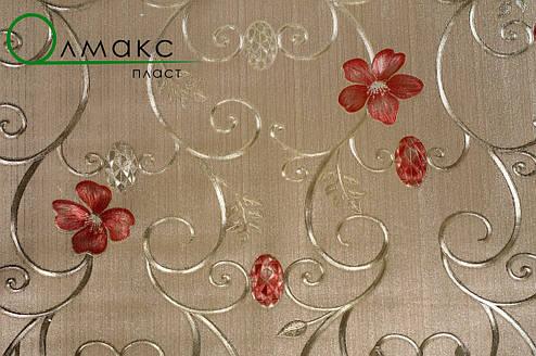 Красивая клеенка на тканевой основе на праздничный стол Gold золото, фото 2