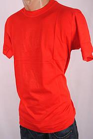 Футболка мужская  однотонная 100%Cotton Индия M-L-XL-XXL 26994 красная