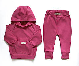 Теплий костюм Andriana Kids від 1 до 4 років на байку (малиновий)