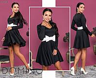Платье с бантом / французский трикотаж / Украина 24-1182, фото 1