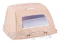 Хлебница Плетенка 32,5х26х19 см Альтернатива М4903