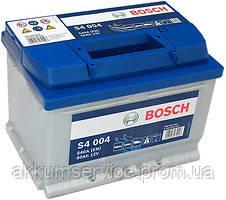 Аккумулятор автомобильный Bosch S4 44AН R+ 440A (низкобазовый)(S4001)