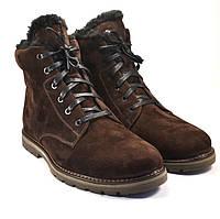 Замшевые зимние коричневые мужские ботинки Rosso Avangard Whisper Vel Brown , фото 1