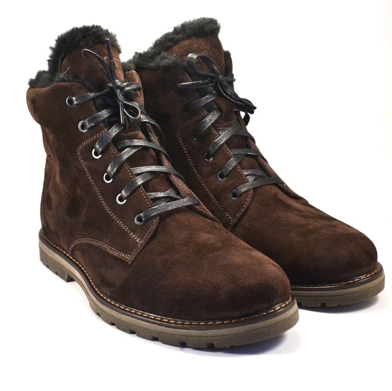 Замшевые зимние коричневые мужские ботинки Rosso Avangard Whisper Vel Brown
