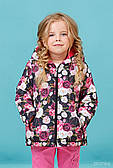 Демисезонная куртка для девочки Зиронька Розы, на утеплителе (р.98,104,110)