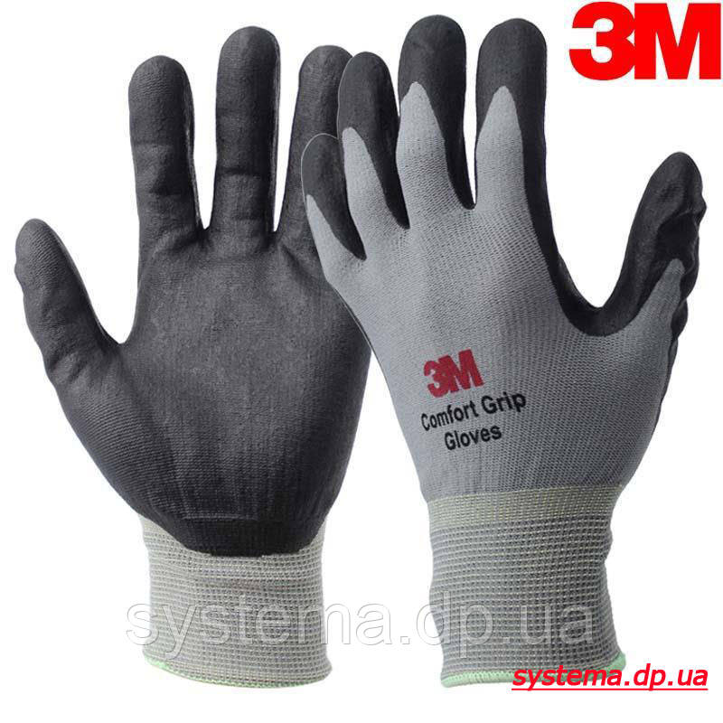 Захисні рукавички для комфортної роботи, багаторазового використання, розмір XL - ЗМ COMFORT GRIP GLOVE