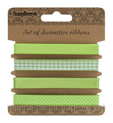 Набор декоративных лент ( светло-зелёные )